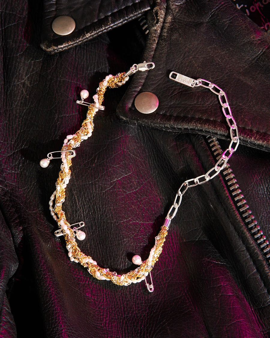 TANGLE GENUINE PEARL NECKLACE