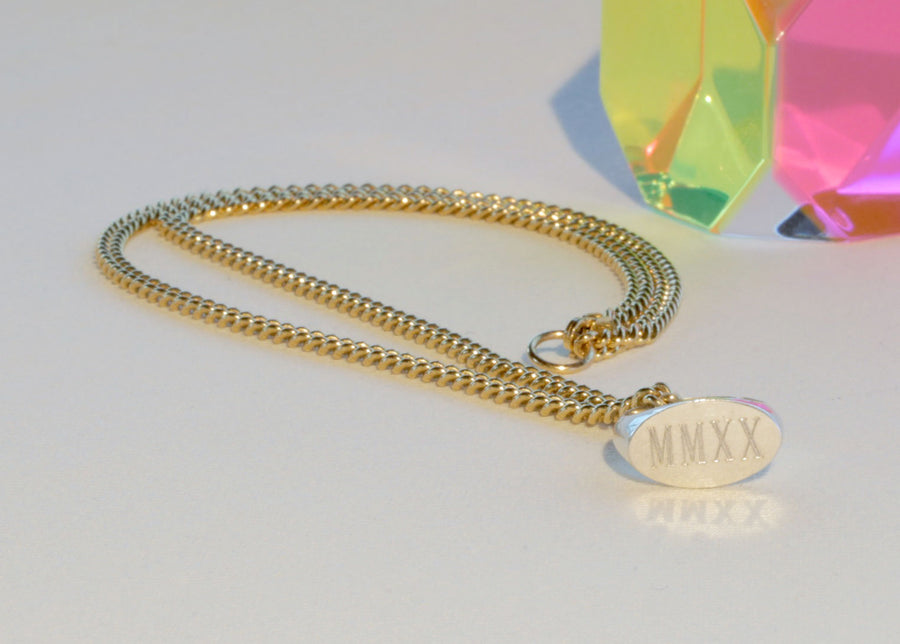 DECADE SIGNET PENDANT NECKLACE