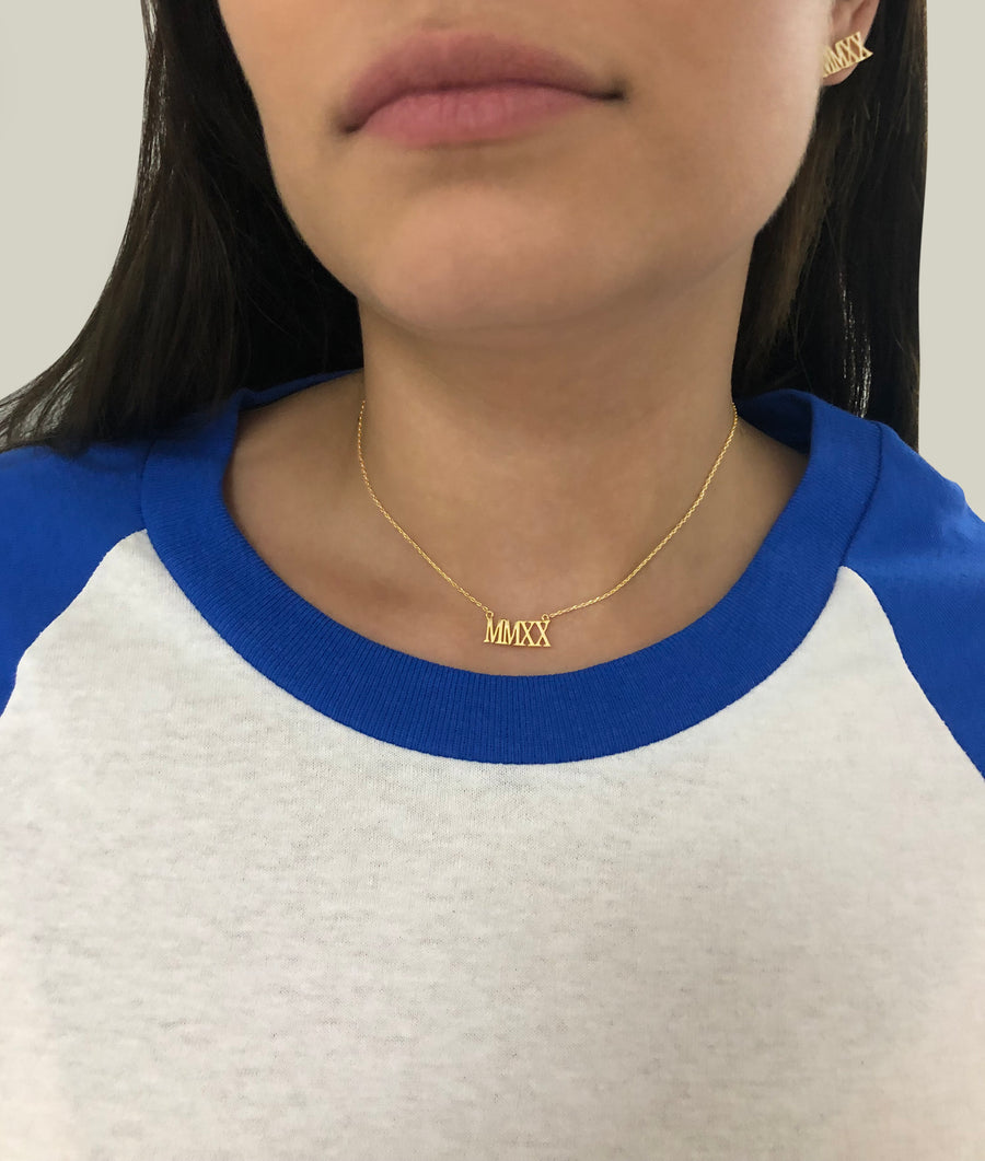 MMXX NAME PLATE NECKLACE