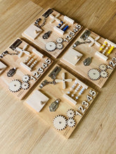 Load image into Gallery viewer, Montessori Modern Handheld Sensory Board- NATURAL