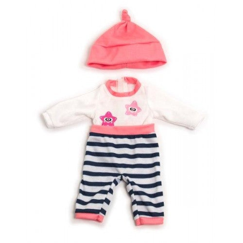 Miniland Clothing Pink Winter Pyjamas, (32cm doll)