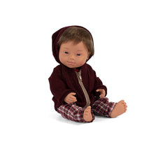 Load image into Gallery viewer, Miniland Doll- Caucasian Down Syndrome Boy, 38cm
