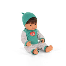 Load image into Gallery viewer, Miniland Doll- Caucasian Boy, Brunette- 38cm