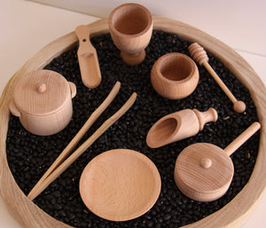 Wooden Sensory Bin Tools Pack