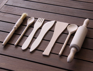 Wooden Kitchen Utensils- 7 Pcs