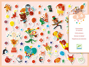The Party Puffy Stickers
