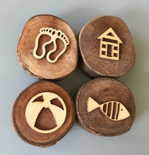 Load image into Gallery viewer, Beach Wooden Stamper Set