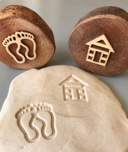 Beach Wooden Stamper Set