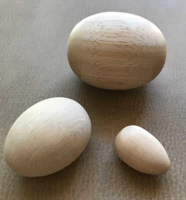 3 Pack of Wooden Eggs