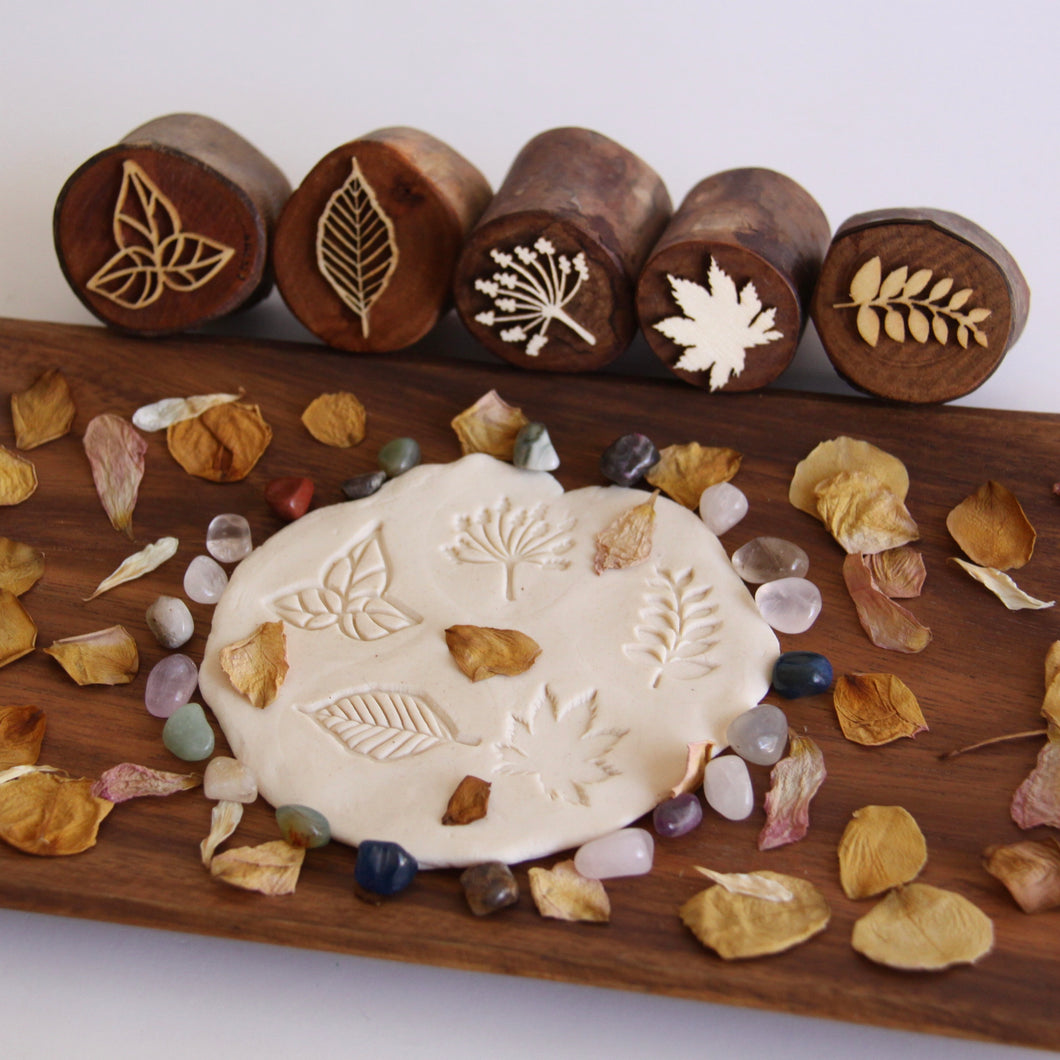 Leaves Wooden Stamper Set