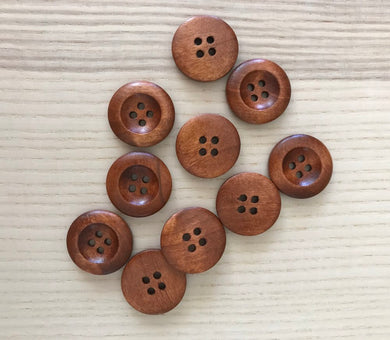 10 Small Wooden Buttons