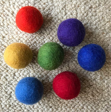 Load image into Gallery viewer, 7 Felt Balls Rainbow Pack