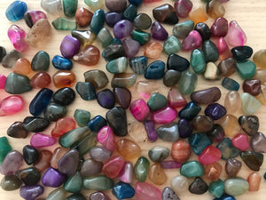 Mixed Fairy Crystal Agate Chips- Small