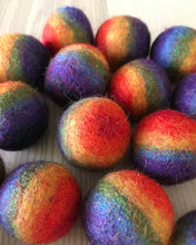 Load image into Gallery viewer, Rainbow Felt Balls 3.5cm