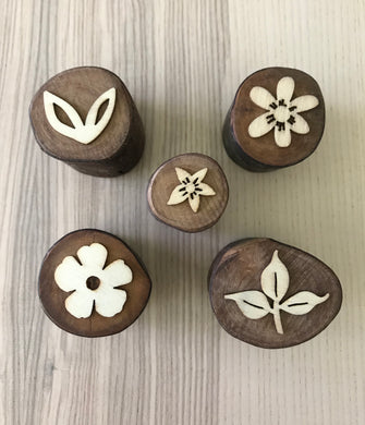 5 Piece Nature Wooden Stamper Pack
