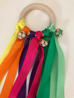 Ribbon Shaker with Colourful Bells