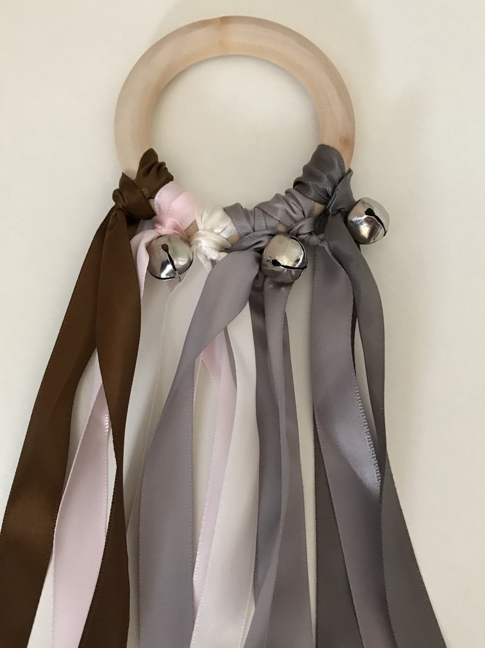 Brown, Pink and Grey Ribbon Shaker