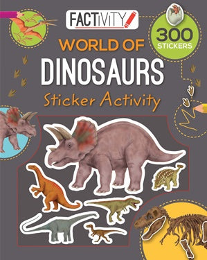 Factivity Balloon Sticker Activity Book Dinosaurs