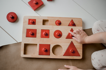 Load image into Gallery viewer, Toddler Knob Shape Puzzle