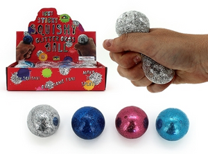 Squishy Water Orbs Glitter Ball