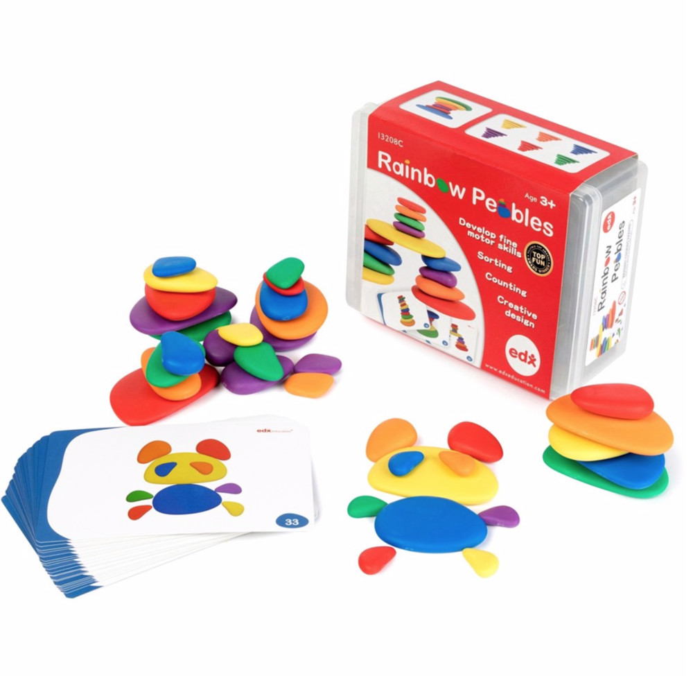 EDX Education Rainbow Pebble Set