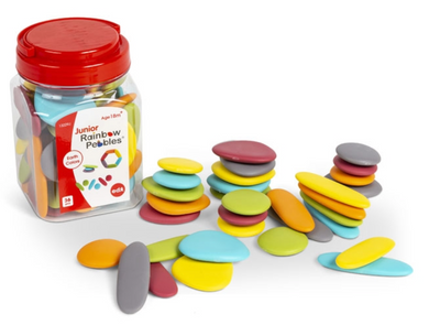 Junior Rainbow Pebbles- Jar of 36: Earth Colours