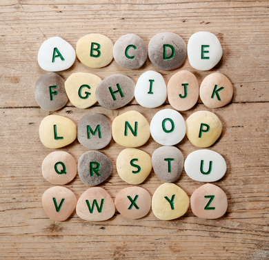 Alphabet Pebbles- Uppercase