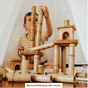Bamboo Building Set with Houses