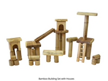 Load image into Gallery viewer, Bamboo Building Set with Houses