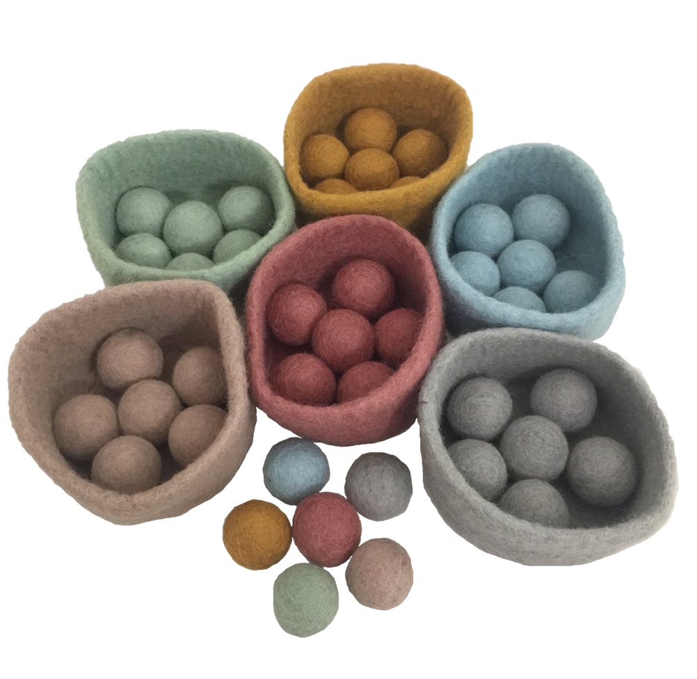 5cm Earth Balls and Bowls Set- 48 Pieces