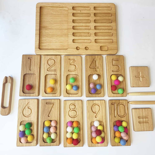 Double Sided Counting Trays 1-20