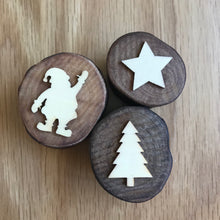 Load image into Gallery viewer, 3 Christmas Wooden Stamper Set