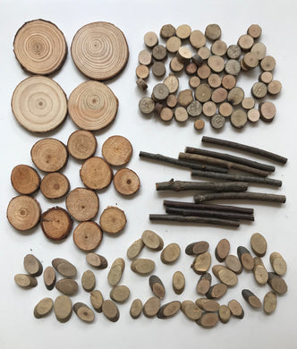 Natural Wooden Pieces Pack