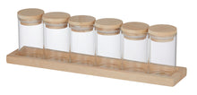 Load image into Gallery viewer, Spice Jar with Wooden Base Set 7pce