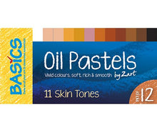Load image into Gallery viewer, Basics Oil Pastels Skin Tone Asst 12's