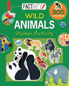 Factivity Balloon Sticker Activity Book Wild Animals
