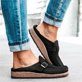 Freeinshop Women Casual Comfy Leather Slip On Flats