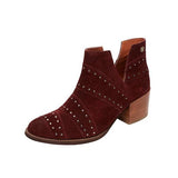 Freeinshop Ankle Boots With Diamond