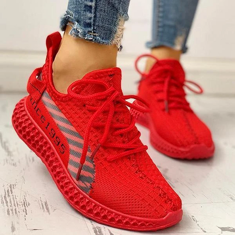 Freeinshop Lace-Up Breathable Casual Sneakers