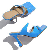 Freeinshop Toe Loop Squared Toe Flip-flops Sandals