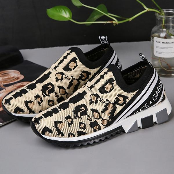 Freeinshop Trendy Casual Wild Leopard Slip On Sneakers