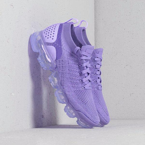 Freeinshop Women Round Toe Pu All Season Purple Sneakers