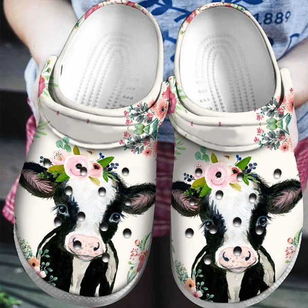 Freeinshop Comfortable Iconic Clog Cows Slippers