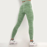 Freeinshop Seamless High-rise Stretch Camouflage Leggings