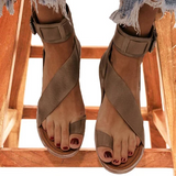 Freeinshop Fashion Flip-flops Flat Heel Buckle Strap Sandals