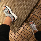 Freeinshop Casual Stylish Stretch Fabric Platform Sandals