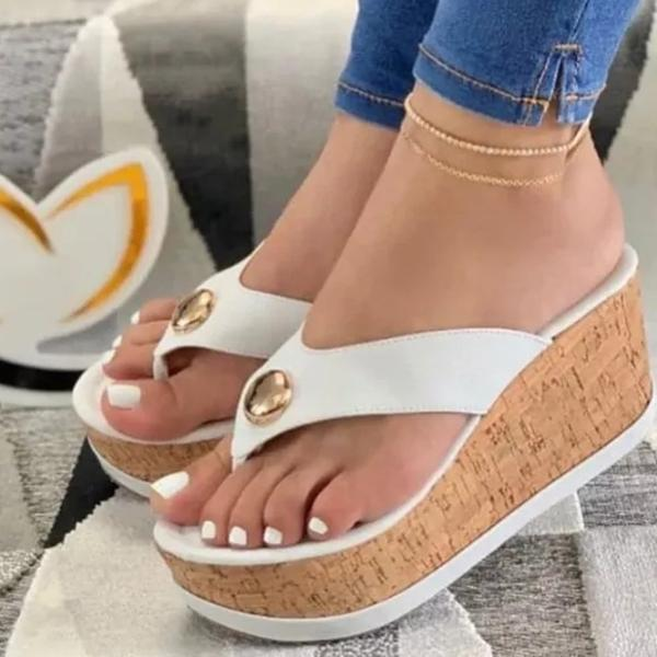 Freeinshop Stylish Flip Flop Platform Slippers
