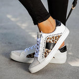 Freeinshop Studded Leopard Sneakers