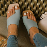 Freeinshop Mint Strap Detailing Slip On Sandals