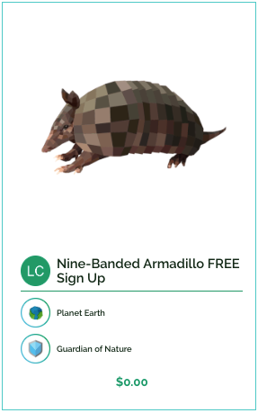 Nine-banded armadillo free sign up collectible